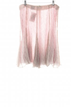 Madeleine Circle Skirt pink-beige allover print elegant