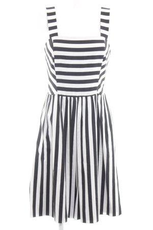 Madeleine Trägerkleid schwarz-weiß Streifenmuster Casual-Look