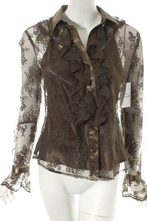 Madeleine Transparenz-Bluse olivgrün Lolita-Look
