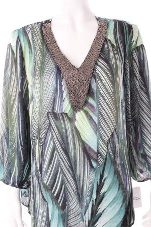 Madeleine Tunikabluse abstraktes Muster Casual-Look