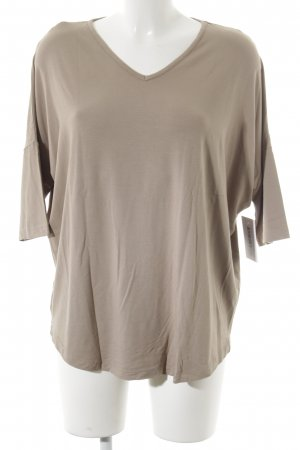 Madeleine V-Ausschnitt-Shirt creme schlichter Stil