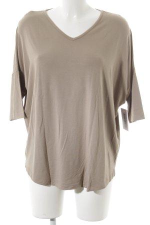 Madeleine V-Neck Shirt cream simple style