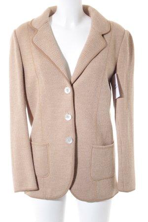 Madeleine Woll-Blazer beige-creme Karomuster Elegant