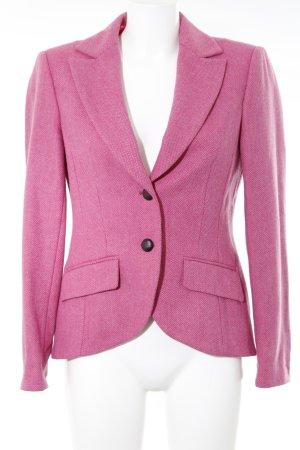 Madeleine Woll-Blazer rosa-magenta Fischgrätmuster Casual-Look