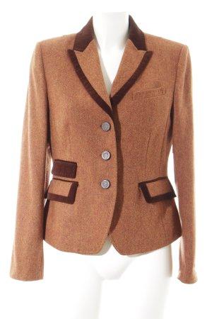 Madeleine Blazer en laine rouille motif en zigzag élégant