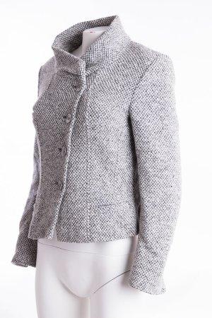 Madeleine Blazer in lana bianco-grigio Lana