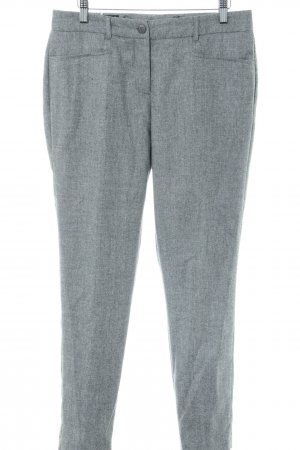 Madeleine Woolen Trousers light grey flecked business style
