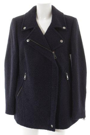 Madeleine Veste en laine bleu foncé style mode des rues
