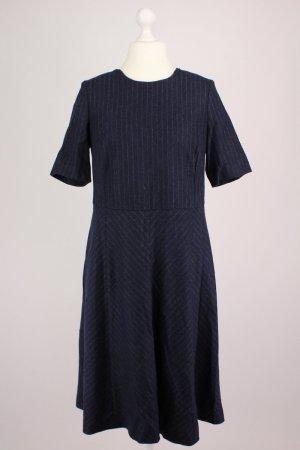 Madeleine Vestido de lana azul acero