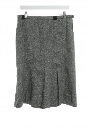 Madeleine Gonna di lana grigio puntinato stile casual
