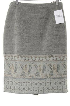 Madeleine Wollrock khaki-ocker florales Muster extravaganter Stil