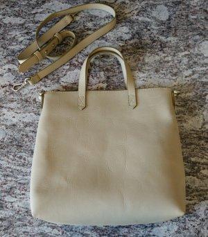 Madewell JCrew USA Zipped Transport Tote pale green Pastell Leder Tasche Shabby Chic Mori Kei