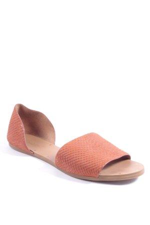 Madewell Sandalen roodbruin straat-mode uitstraling