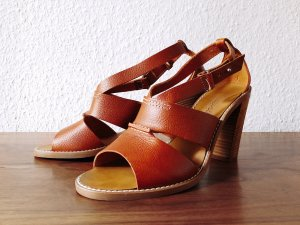 Madewell Strapped Sandals brown leather