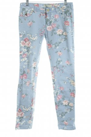 Madison Scotch Drainpipe Trousers flower pattern casual look