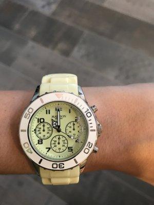 Madison Analoog horloge geel-sleutelbloem