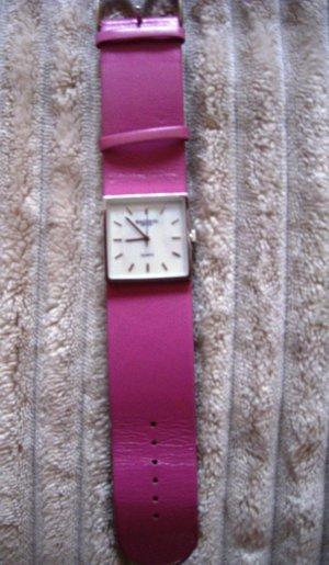 Madison Uhr, lila, rosa, 1x getragen