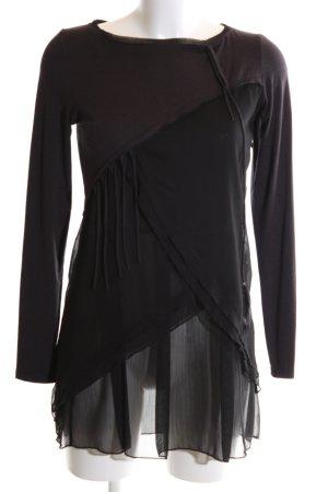 Mado et les Autres Shirtkleid schwarz-braun extravaganter Stil