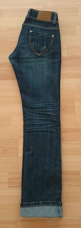 Madona Straight Jeans dunkelblau Gr. M