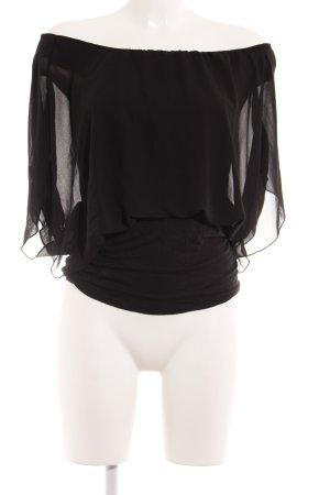 Madonna Top a fascia nero stile  materiale misto