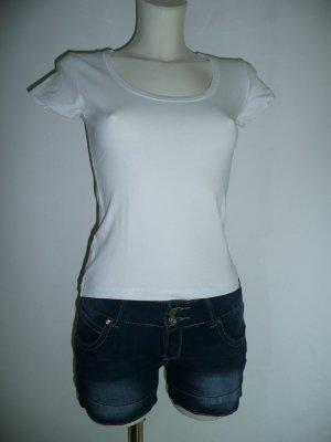 Madonna Basic Sommer T-Shirt Weiß Gr S 36