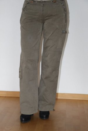 Madonna Cargo Pants olive green mixture fibre