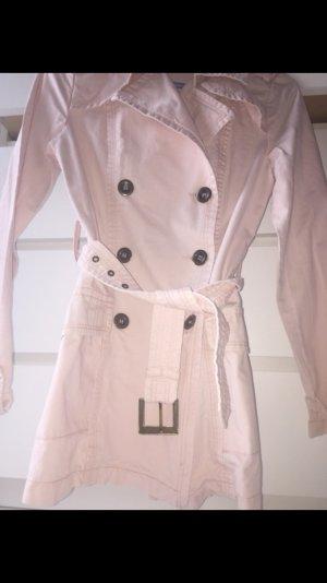 Madonna Jeansmantel Trenchcoat rosa Gr. XS