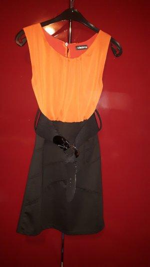 Madonna Vestido strapless negro-naranja