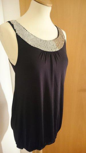 MADONNA Partydress / Longtop schwarz mit Pailletten leicht fallend, elegant