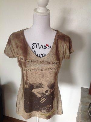 Madonna Shirt braun meliert