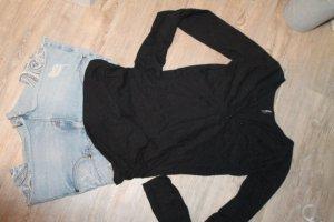 Madonna Shirt Sweatshirt Knopfleiste Brusttasche schwarz Gr.S 36 38 Top