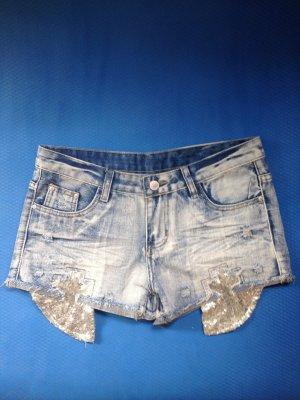 Madonna Pantaloncino di jeans multicolore