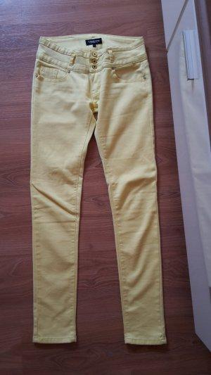 Madonna Skinny Jeans, Denim, Gelb, Gr. 38