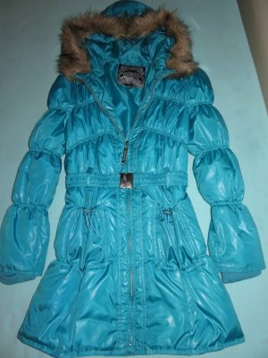Madonna Quilted Coat light blue-baby blue
