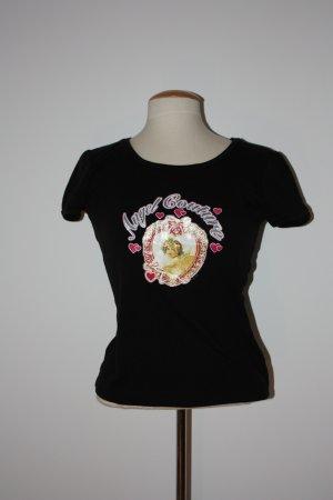 Madonna T-Shirt schwarz mit glänzendem Aufdruck, Gr.38, GESCHENKAKTION BEACHTEN!