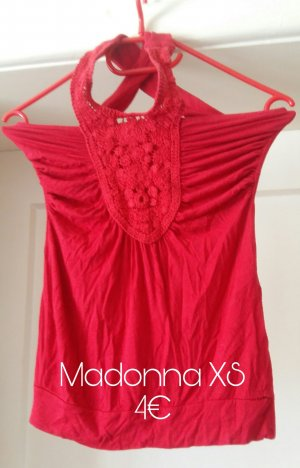 Madonna Crochet Top red