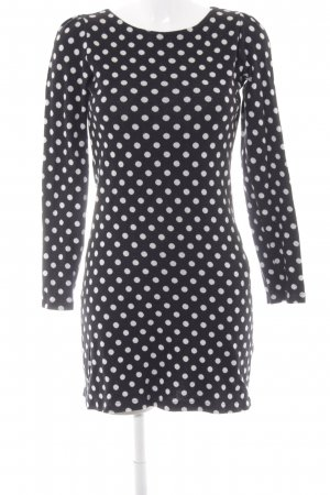 Mads nørgaard Longsleeve Dress black-white spot pattern casual look