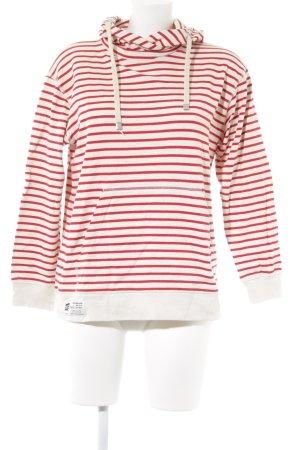 Mads nørgaard Sweatshirt creme-rot Streifenmuster Casual-Look