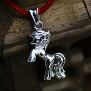 Mädchen Halskette Pferd Pony Anhänger 925 Silber