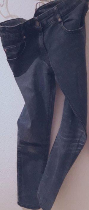 Jeans a gamba dritta blu scuro