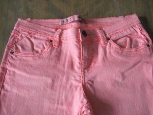 Mädchen Jeans / Mädchenjeans, Gr. 36, neonorange