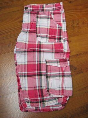Mädchen Shorts / Mädchenshorts / Bermudas, pink-weiß, Gr. 32 (170)