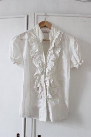 mädchenhafte Rüschen-Bluse Gr.38