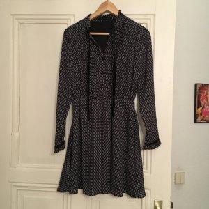 Mädchenkleid in dunkelblau/schwarz