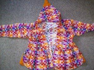 Babydoll-jurk veelkleurig Scheerwol