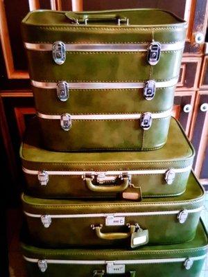 Koffer groen-grijs