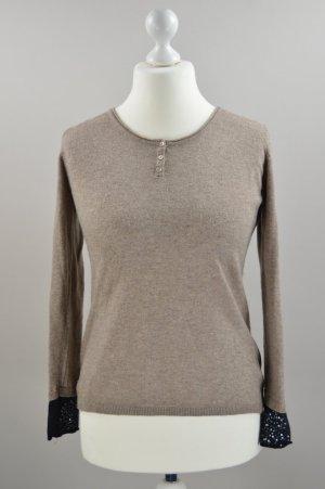 maElla Pullover Wolle und Kaschmir braun Größe M