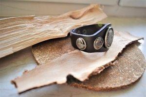 Bracelet argenté-brun foncé