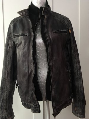 Miracle Of Denim Leather Jacket multicolored