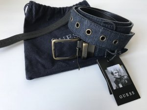 Guess Fabric Belt dark blue